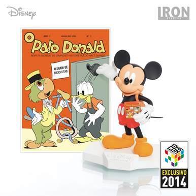 Mickey Mouse (Art Scale 1/10) e o fac-símile oficial da edição nº1 do Pato Donald