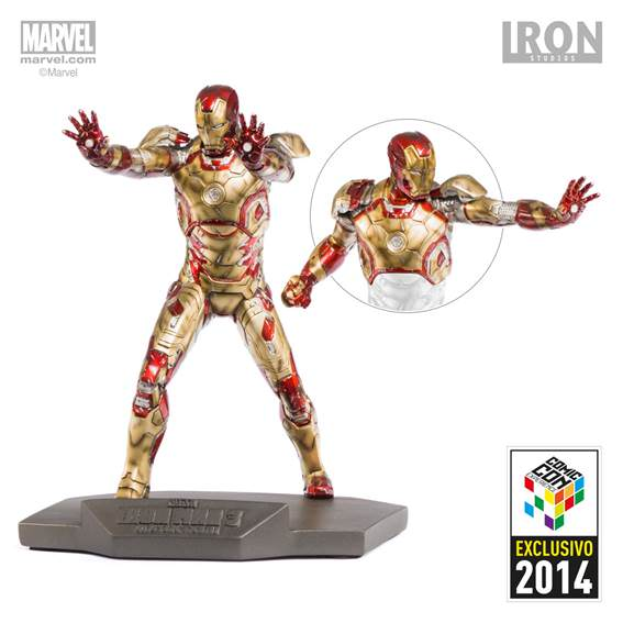Iron-Man Mark XLII Battle Damaged , art scale 1/10