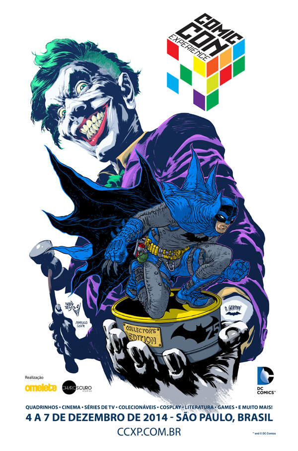 CCXP 2014 - Batman poster - Ivan Reis & Rafael Grampá - 600 - Portuguê...